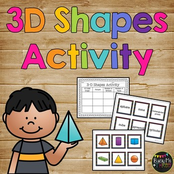 3-D Solid Shapes Activity Math Journal Page K, First and Second