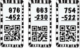 3 Digit Addition and Subtraction QR Flashcards