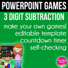 3 Digit Subtraction Borrowing PowerPoint Game