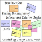3 Dominoe Like Matching Sort: Exterior-Interior Angles of