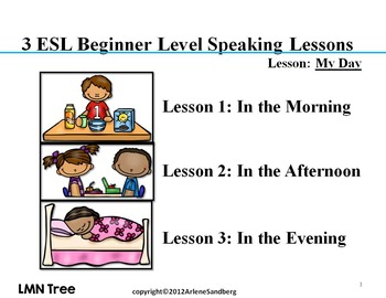 3 ESL Elementary Lessons: My Day
