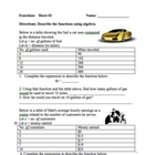 (3) FUNCTIONS ALGEBRA Math Activity worksheets - real worl