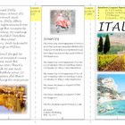 3 Fold Travel Brochure (assignment, specifications, rubric