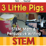 3 Little Pigs Project Based Learning Activities:STEM/ Writ