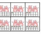 3 Little Pigs ten frame and double ten frame game