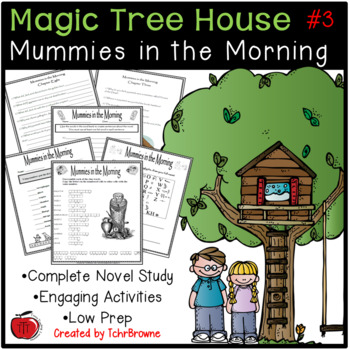 #3 Magic Tree House- Mummies in the Morning Novel Study
