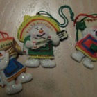 3 Mariachi Snowmen Ornaments Feliz Navidad