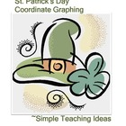 3 St. Patrick's Day Coordinate Graphing pictures - 1st qua