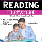 3-Week plans for Phonics and Instant Words