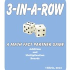 3-in-a-Row Math Fact Partner Game - Addition / Multiplication