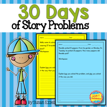 30 Days of Story Problems {Grade 2 Math - 2.OA.1}
