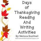 30 Days of Thanksgiving Writing Activities