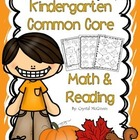 FALL Themed Kindergarten Common Core Print and Go Math and