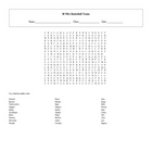 30 NBA Basketball Teams Word Search with Key