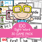 30 Sight Word Games Mega Pack - Fun Card Games to Learn 10