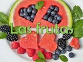 30 Slide Fruits (Las frutas) Power Point in Spanish