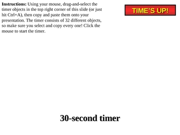 30-second Powerpoint countdown timer
