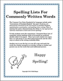 300 Commonly Written Words