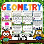 32 Geometry Task Cards Set 2: Grades 4, 5, & 6!  Monster Themed!