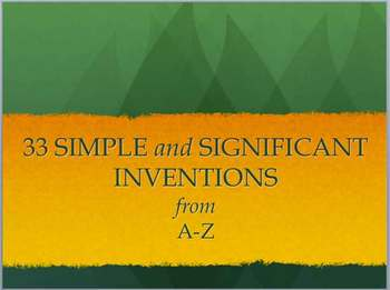 33 simple inventions that changed our world: Powerpoint (P