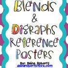 36 Blends &amp; Digraphs Reference Posters - Polka Dot Theme