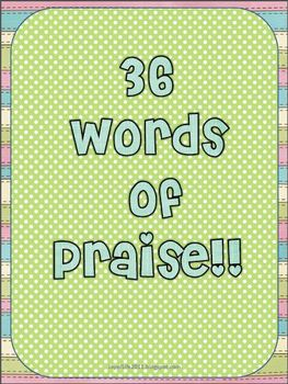36 Words of Praise Freebie