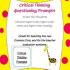 37 Higher-Order Questioning/ Critical Thinking Questioning