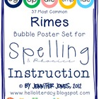 37 Most Common Rimes Poster Set for Spelling & Phonics Ins