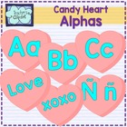 3D Candy hearts letters clipart