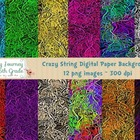 3D Crazy String Digital Paper Backgrounds