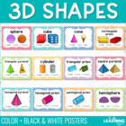 3D Geometric Shape Posters