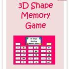 3D Shape Card Game Combo