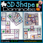 3D Shape Dominoes Game