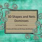 3D Shape Dominoes (Nets and Shapes)