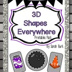 3D Shapes Everywhere! Printables Pack