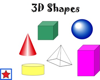 3D Shapes Mimio Notebook