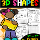 3D Shapes-Worksheets