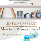 3D TWINZ: Commercial Clip Art TpT Merchant Resource Pack 1