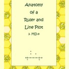 3.MD.4 Anatomy of a Ruler and Line Plot for 3rd Grade