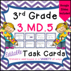 3.MD.5 Task Cards for Third Grade Math Common Core - Under