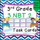 3.NBT.2 Task Cards for Third Grade Math Common Core - Addi