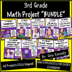 BUNDLED! 81 3rd Grade Common Core Math Projects To Use All