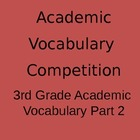 3rd Grade Academic Vocabulary Game - Part 2