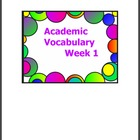 3rd Grade Academic Vocabulary- Set 1