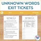 3rd Grade CCSS L.4: Unknown Words: Exit Tickets, I Cans an