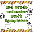 3rd Grade Calendar Math Templates (includes color and blac