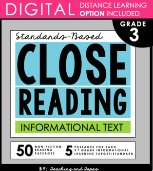 3rd Grade Close Reading and Text Evidence - Informational Text (52 passages)