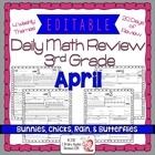 3rd Grade Common Core Daily Math Review/Morning Work- April