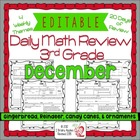 3rd Grade Common Core Daily Math Review/Morning Work- December