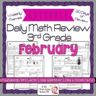 3rd Grade Common Core Daily Math Review/Morning Work- February